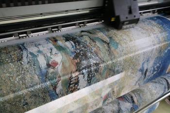 tibet  110x110cm painter guyuan  oil painting digital printing thick satin scarf  free shipping