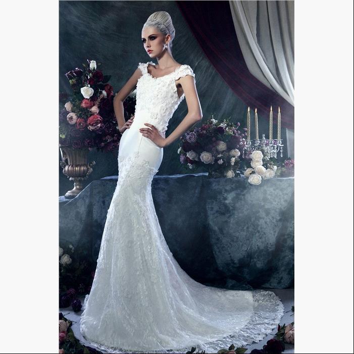 Блестящие свадебные платья