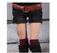 Free shipping girl 's ( really rabbit bag ) women's Denim Shorts/ fashion jeans / hot sale