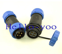 Free shipping 10sets/lot 4pin 21mm plug-in XLR male to female waterproof Aviation Connector