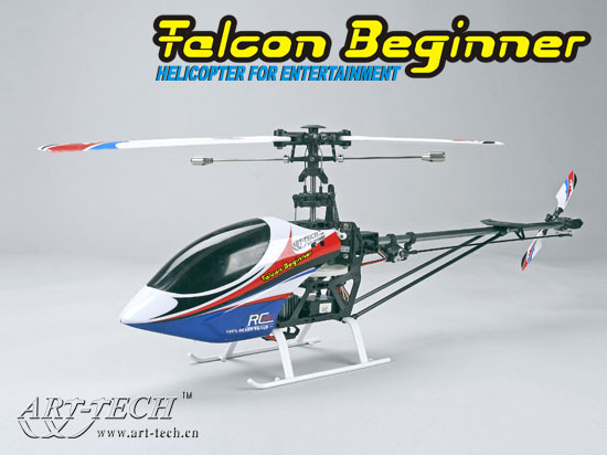 Art-Tech 400Class Falcon Beginner Helicopter RTF11331 fly indoors and outdoors | With EFLY-6BII 2.4GHz R/C Heli System(China (Mainland))