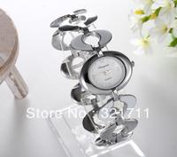 Free Shipping Women Lady's nobler Fashion oval Dial silver Bracelet Watch Time Quartz