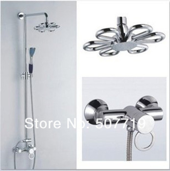 In wall shower faucet sets.Bathroom Exposed bathtub shower faucet.