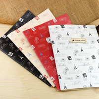 FIRST LINE Fashion Stationery Tower & Stamp Design A5 Notebook Diary Memo Book Notepad 4 designs ST0860