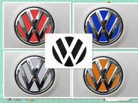 2 set VW VOLKSWAGEN Logo Carbon Fiber/Reflective Sheeting Badge Emblem Sticker Decal Colorful Style For VW
