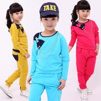Children's clothing female child autumn 2012 new arrival fashion long-sleeve set 12c005