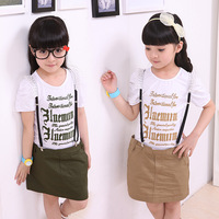 Children's clothing female child 2012 summer suspenders 100% cotton one-piece dress 12b004