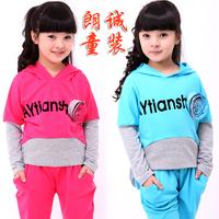 Children's clothing female child autumn 2012 autumn child long-sleeve sports set 12c002