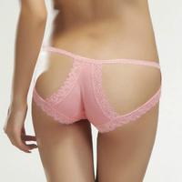 Sexy lace  cutout briefs bamboo fibre butt panties women plus size underwear sex lady panties free shipping