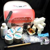 Sensitive Sensor 36W UV Gel Nail Curing Lamp & Fan Block Cleanser Tips Art Set-5, No. HB-NailArt01-05set