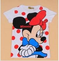 Women cartoon minnie white color women's short-sleeve 100% cotton t-shirt lady t shirt