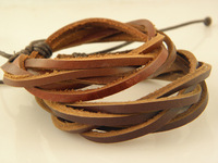 Great Price Men's Genuine Leather Braided  Bracelets Mix Order available Factory Price
