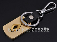 GOLD CLASSIC renault Brand CHROME car standard keyring keychain keyfob  key chains SPECIAL gift