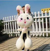 50cm big plush animal toy doll long ear white pink rabbit stuffed toy doll bunny pet for children girl birthday gift valentine