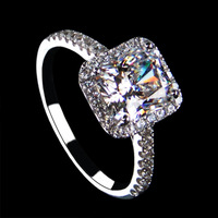 2014 Freeshipping Metal Star Anel Wedding Rings Sona Synthesis Of Cubic Ring - Pure Women Jewelry Fashion High Artificial Finger