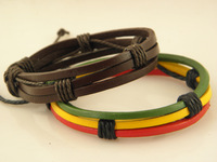 Min order $20 Cool Genuine Leather Wrap Bracelets Mix Order Factory Price Handmade Wholesale price