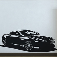 Free Shipping Wall stickers Home decor SIze:480mm*1180mm PVC Vinyl paster Removable Art Mural Cars M-154