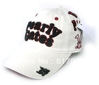 Free shiping Wholesale rabbit embroidery pearly gates cotton baseball cap golf hat fashion sport  adjustable sun hap