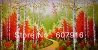 "48""x24"" Coetaneous hand painted landscape Art Oil Painting"