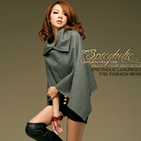 8182 sex style retrorse woolen cloth cloak short jacket