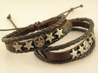Hot Sale Great Seller  Leather wrap Bracelets  Mix Order leather bracelet men Fast Despatch