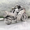 40pcs/lot,Simulation Model Motorcycle Motorbike Keychain Key Chain Ring Keyring with gift box