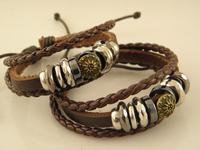 Hot Sale New Arrival Leather wrap Bracelets leather bracelets men Wholesale Mix Order factory price
