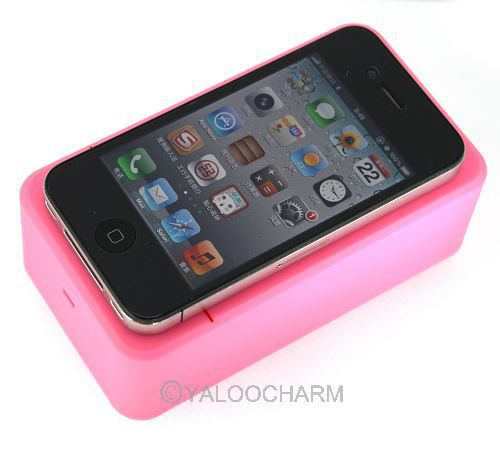 New 1pcs Pink Magical Near Filed Portable Induction Speaker For all cellphone iPhone HTC 80465(China (Mainland))