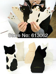 30pcs/lot New arrival Novelty Lovely 3D cat greeting card with envelope Christmas card Festival/Valentine's gift free shipping(China (Mainland))