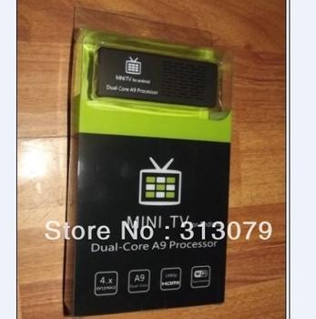 50pcs/lot MK808 Bluetooth MINI PC Cotex A9 Dual-Core  Smart Android 4.1 TV Box 1080P WIFI 1.6GHz RAM 1GB ROM 8GB quad-core GPU