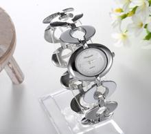 Free Shipping Women Lady's nobler Fashion oval Dial silver Bracelet Watch Time Quartz(China (Mainland))