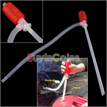 Portable Manual Car Siphon Hose Gas Oil Water Liquid Transfer Hand Pump Sucker   #26709