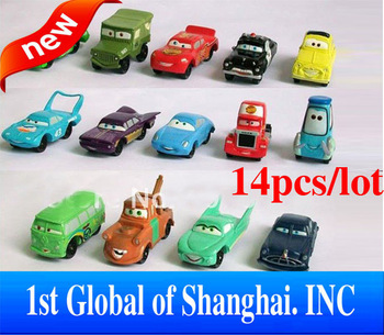 Free Fedex Shipping 100set/lot kids toys Pixar Car Figures Full Set PVC NEW  High Quality for Gift Toys For Children