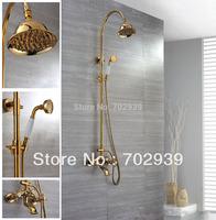 Free shipping gold  clour Rainfall shower faucet