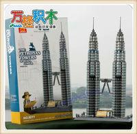 WANGE DIY The Petronas Tower Of Kuala Lumpur Children's Educational Construction Building Blocks Toy , 1160pcs, Free Shipping