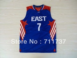 Free Shipping Wholesale Basketball Jersey,New York #7 Carmelo Anthony 2013 All Star Jersey,Embroidery Logos,Size S--3XL(China (Mainland))