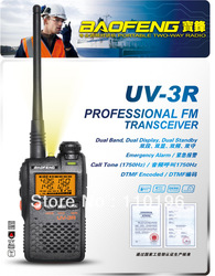 15% OFF Two-Way Radio BAOFENG UV-3R Professional FM Transceiver Walkie Talkie Dual Band Frequency(China (Mainland))