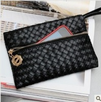 New fashion women lady handbag envelope clutch bag wrist wallet!  leather wallet long wallet famous brand ladies wallet design