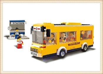 WANGE DIY Heavy Weight City Bus Children's Educational Plastic Toy Blocks 30131, 289 pcs/set, Free Shipping