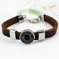 Free shipping!MIX order cow leather wristband bracelet charm bracelet  wholesale top quality fashion jewelry