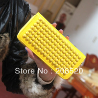 AD008 free shipping Candy color wallet female punk bead rivet long design women's zipper wallet