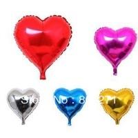 18 inches Party Balloon Aluminum  Heart  Balloons Foil Wedding Balloon Decorations,20pcs-Free Shipping