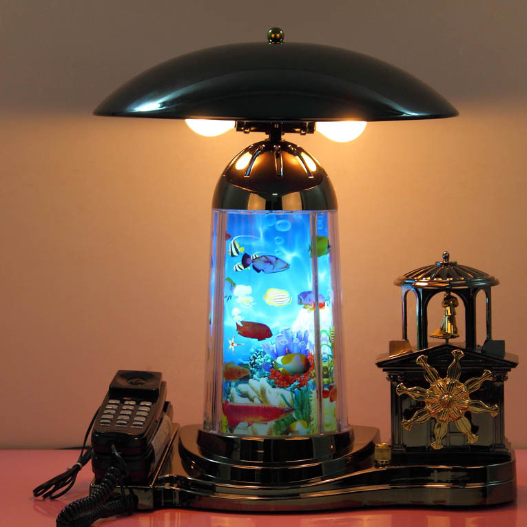 Vintage telephone desk lamp bedroom bedside lamp living room lights decoration crafts lamp dual(China (Mainland))