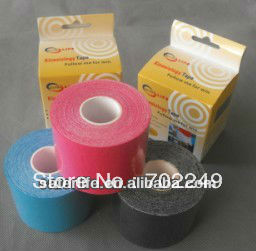 2pcs a lot Air mail Sports elastic therapeutic athletic tape waterproof kinesiology bandage tape for knee elbow back