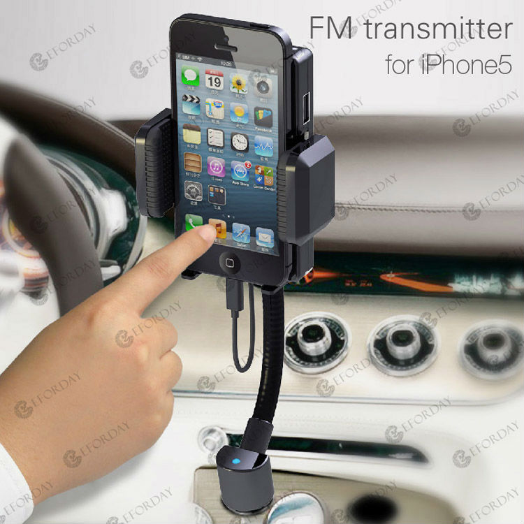 FM Transmitter Car Charger Holder Kit for Apple iPhone 5 5G iPod Touch 5 iTouch(China (Mainland))