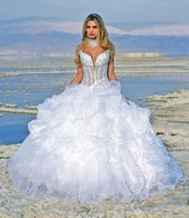 Free shipping!!! best selling V neck sexy Wedding Dresses Custom Size/Color Wholesale/Retail