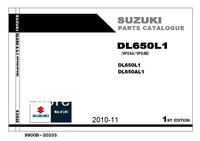 Parts Catalogue for SUZUKI V-Strom DL650 DL650A