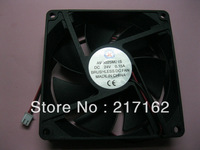 8 Pcs Per Lot Brushless DC Cooling Fan 7 Blade 24V 9025s 92x92x25mm Black 2 Wires HOT Sale High Quality Brand New