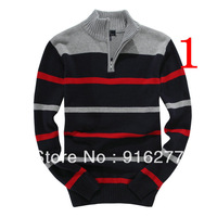 fashion leisure male stripe long sleeve sweater a variety of color sweater coat shirt jacket T-shirt dress dot free shipping