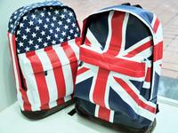 Fashion american flag vintage casual backpack student school bag backpack travel bag United States British